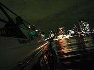 モーリン二号のデッキから観る夜景