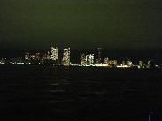 二階デッキから見える夜景