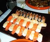 船上で出張寿司