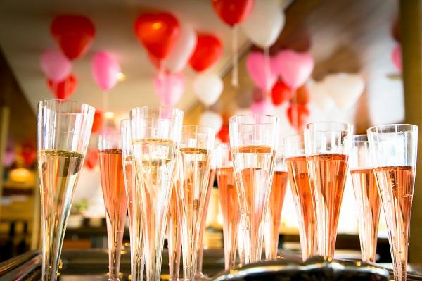 シャンパンが並んでいる