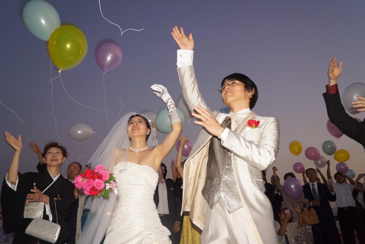 バルーンリリース 結婚式クルージング