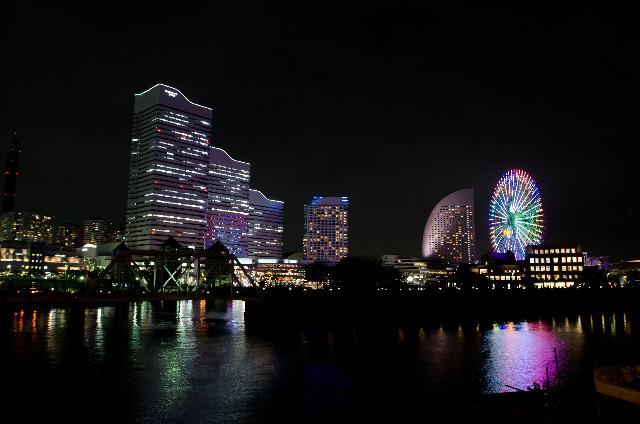 横浜みなとみらいの夜景の写真