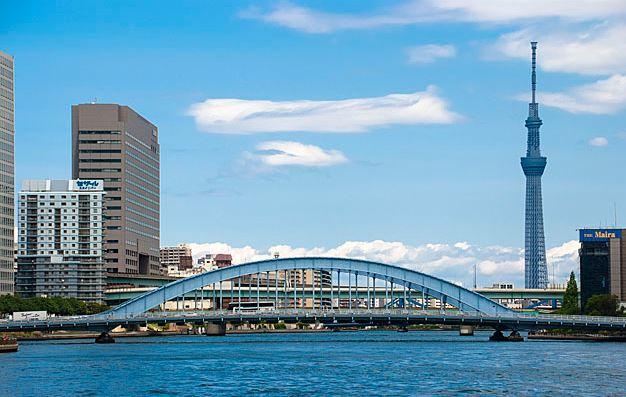 東京スカイツリーと橋と川