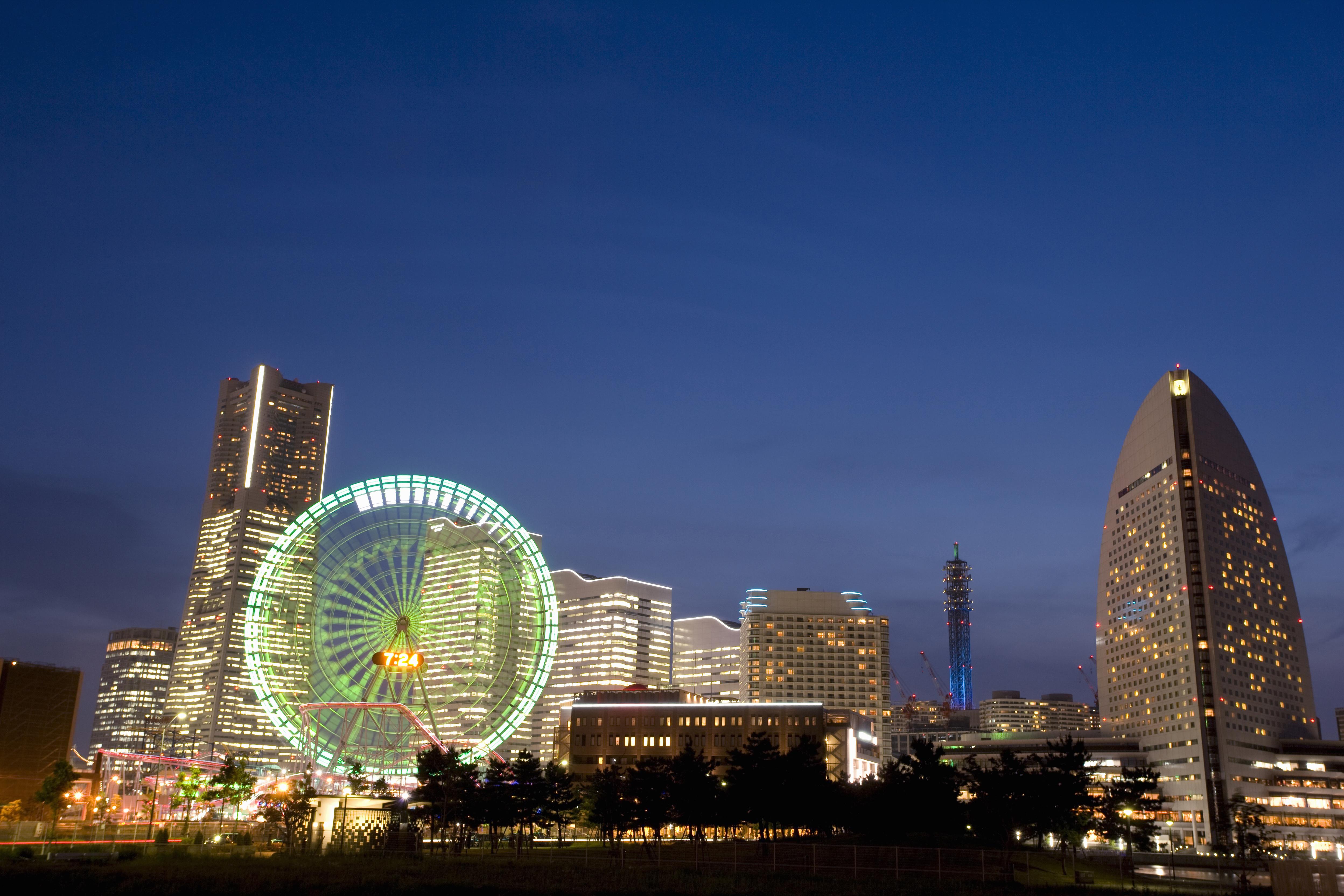 横浜みなとみらいの夜景みなとみらいの夜景