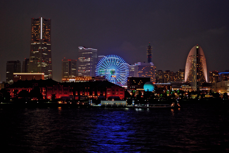 横浜みなとみらい地区の夜景