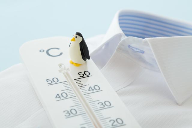 ワイシャツと温度計