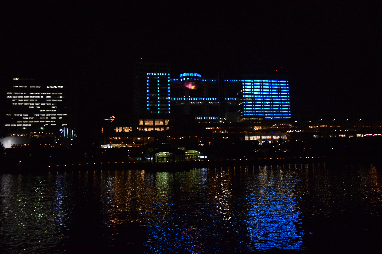 東京湾から眺める街の夜景