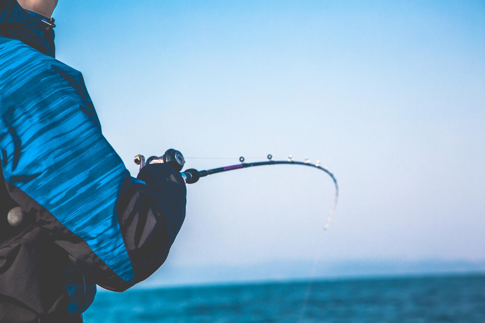 海釣りをしている風景