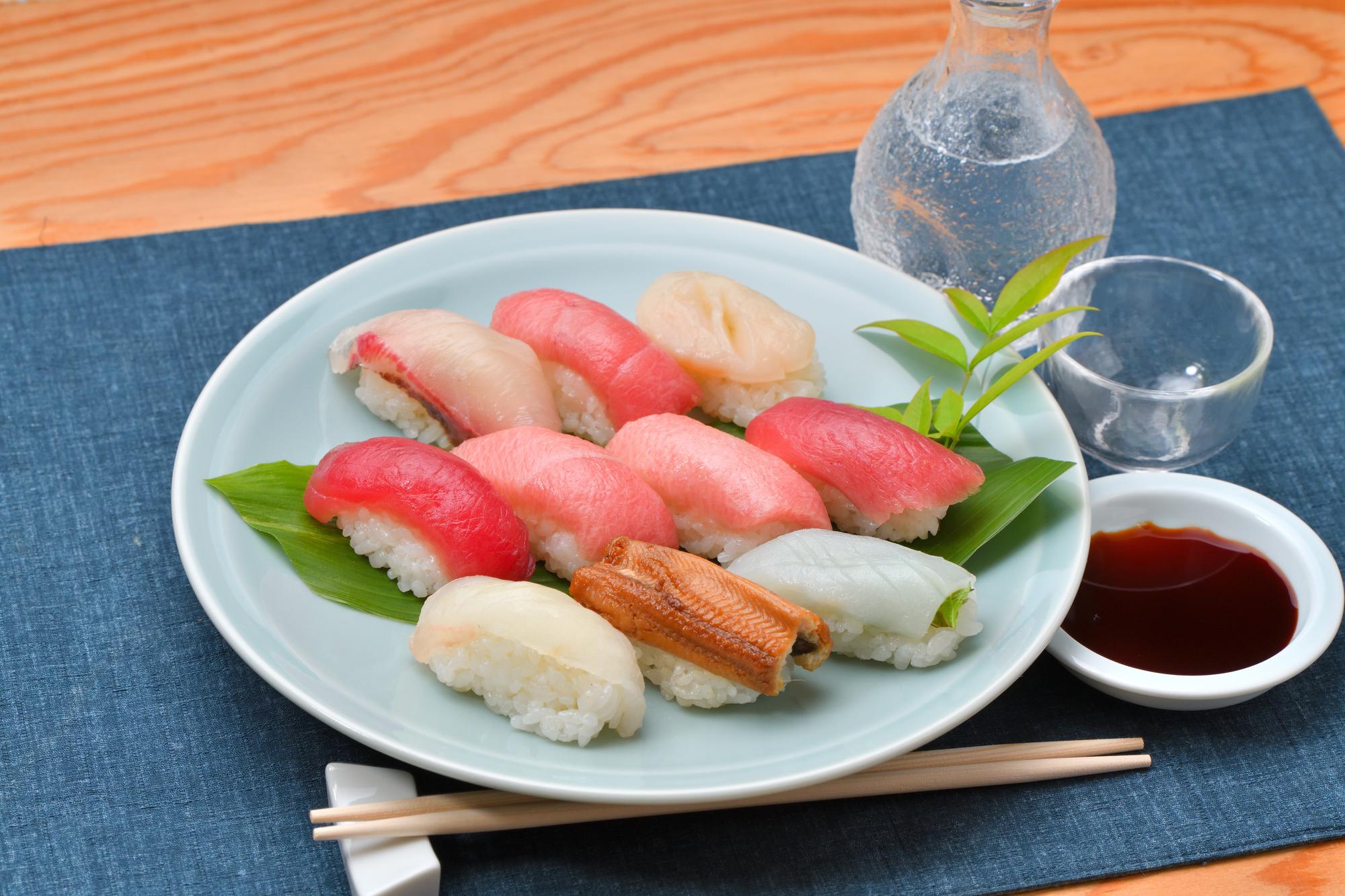 ネタの豊富なお寿司とお酒